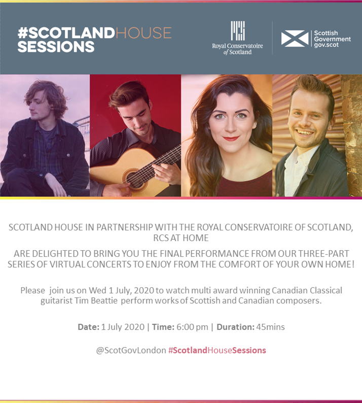Scotland House Sessions with Royal Conservatoire of Scotland